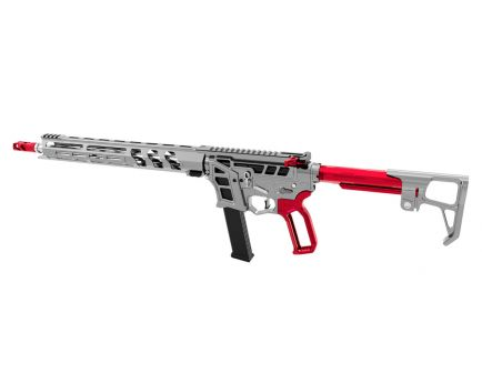 "Lead Star Arms Prime 16"" Stainless Steel PCC 9mm AR-9 Rifle, Gunmetal w/ Red Accents"