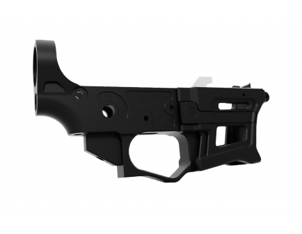 Lead Star Arms Skeletonized PCC LSA-9 AR-9 Stripped Lower Receiver, Black