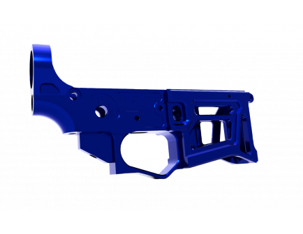 Lead Star Arms Skeletonized LSA-15 AR-15 Stripped Lower Receiver, Blue