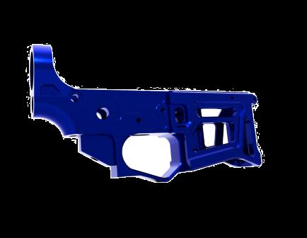 Lead Star Arms Skeletonized LSA-15 AR-15 Stripped Lower Receiver, Blue