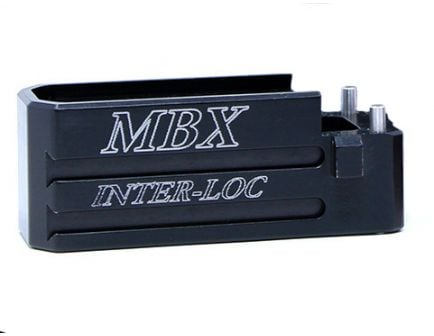 MBX AR Magazine Extension Basepad, Black - mbxarbp