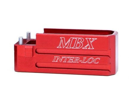 MBX AR Magazine Extension Basepad, Red - mbxarbp