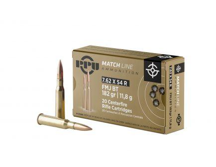 Prvi Partizan 7.62x54R Match FMJ 182 gr 20 Rounds Ammunition - PPM7