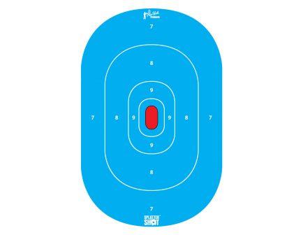 "Pro Shot Splattershot 12""x18"" Silhouette Heavy Paper Blue Targets, 8-Pack - SILH-INTP-BLUE-8PK"