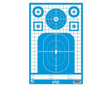 """Pro Shot Tactical Precision Splattershot 12""""x18"""" Targets, 8-Pack - TACTPREC-BLUE-8PK"""