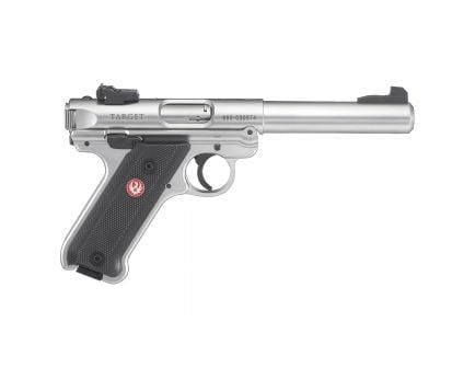 """Ruger Mark IV Target .22 LR 5.5"""" Stainless Steel Pistol - 40103"""