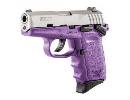 SCCY CPX-1 9mm Stainless / Purple Pistol with Safety - CPX 1TTPU