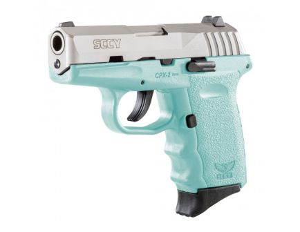 SCCY CPX-2 9mm Stainless / Blue Pistol, No Safety - CPX 2TTSB