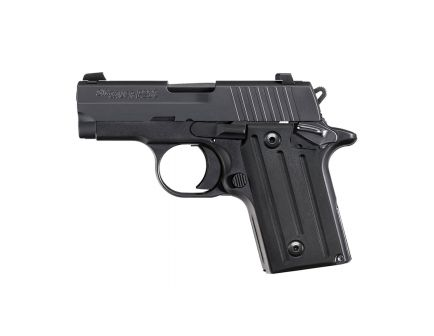 Sig Sauer P238 .380 ACP Subcompact Pistol with Contrast Sights, Black - 238-380-B