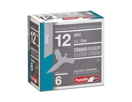 Aguila Field 12 Gauge 2-3/4 inches 6 Shot 1-1/8 oz Standard Velocity Lead Shotshell, Birdshot, 25/Box - 1CHB1216