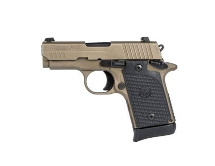Sig Sauer P938 Emperor Scorpion 9mm Subcompact Pistol, Flat Dark Earth - 938-9-ESCPN-AMBI