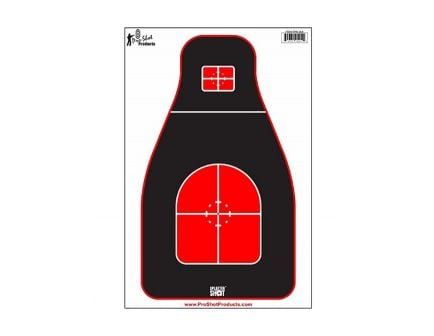 Pro-Shot Tactical Precision Target, 8-Pack - TPRS-BLK-8PK