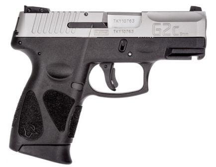 Taurus G2C 9mm Pistol, Black & Stainless Steel - 1-G2C939-12