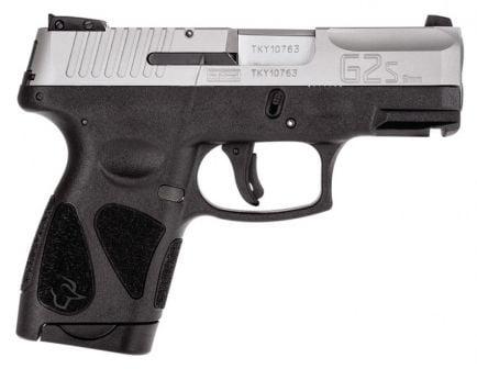 Taurus G2S 9mm Sub-Compact Pistol, Black & Stainless Steel - 1-G2S939