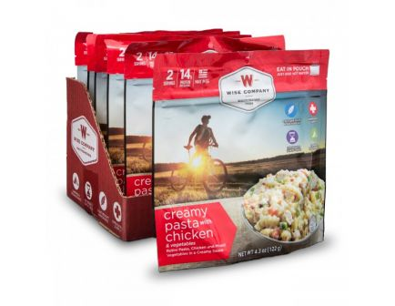 Wise Foods Outdoor Creamy Pasta Chicken Camping Food (Case of 6) - CASE -05-906