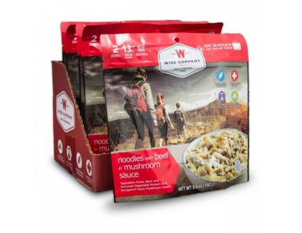 Wise Foods Outdoor Noodles and Beef Camping Food (Case of 6) - CASE -05-904