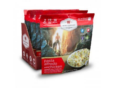 Wise Foods Outdoor Pasta Alfredo with Chicken Camping Food (Case of 6) - CASE -05-902