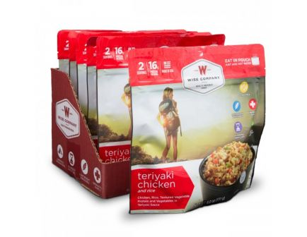 Wise Foods Outdoor Teryaki Chicken and Rice Camping Food (Case of 6) - CASE -05-903