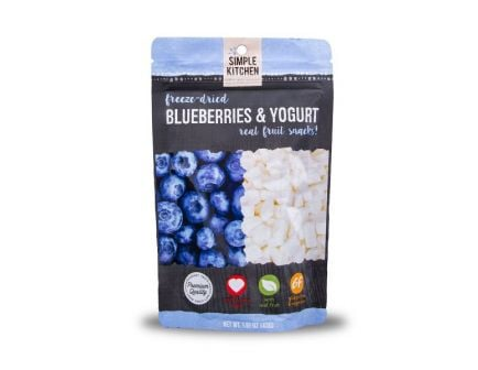 Wise Foods Simple Kitchen Freeze Dried Blueberry & Yogurt, Single Pouch - SK05-912
