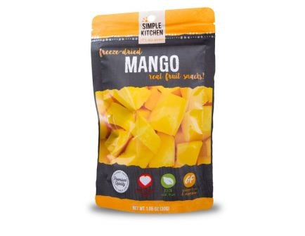 Wise Foods Simple Kitchen Freeze Dried Mangos, Single Pouch - SK05-911