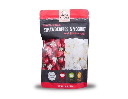 Wise Foods Simple Kitchen Freeze Dried Strawberry & Yogurt, Single Pouch - SK05-913