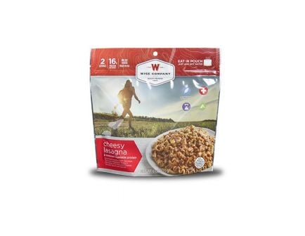 Wise Foods Outdoor Cheesy Lasagna with Sausage Camping Food - 03-905