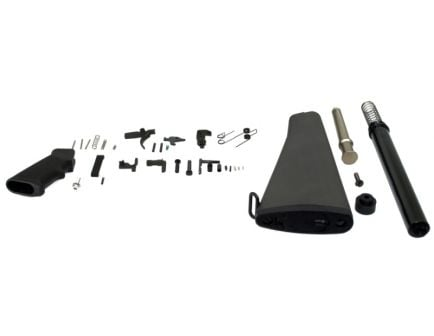 A2 AR-15 Rifle Lower Build Kit in black