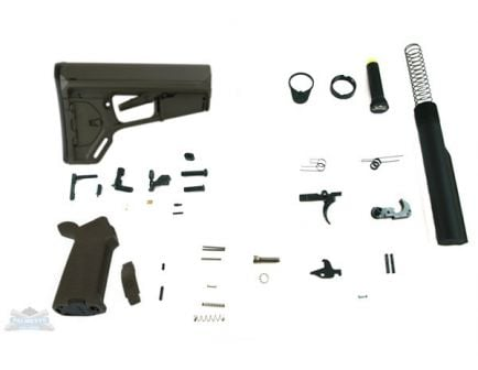 OD Green AR-15 lower build kit
