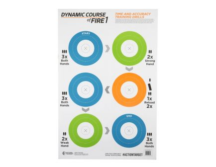 """Action Target Game Series 23""""x35"""" Dynamic Course Of Fire Target, Blue/Grn/Org, 100 per/box - GS-DCFIRE1-100"""