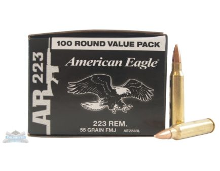 American Eagle 223 55gr FMJ-BT Ammunition 100 pack - AE223BL