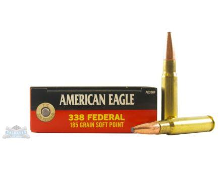 American Eagle 338 Fedreal 185gr Soft Point Ammunition 20rds  - AE338F