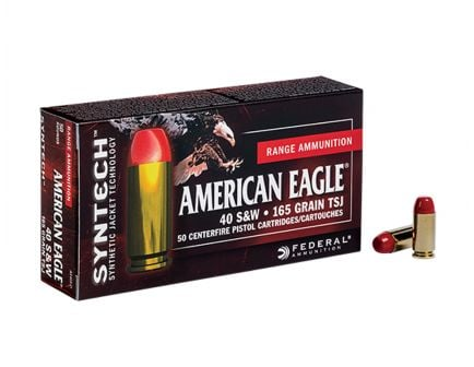 American Eagle 40 S&W 180gr TSJ (Total Synthetic Jacket) Ammunition 50rds - AE40SJ1