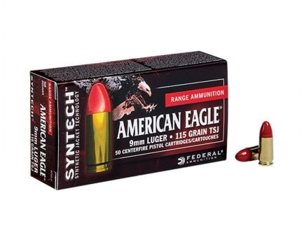 American Eagle 9mm 115gr TSJ (Total Synthetic Jacket) Ammunition 50rds - AE9SJ1