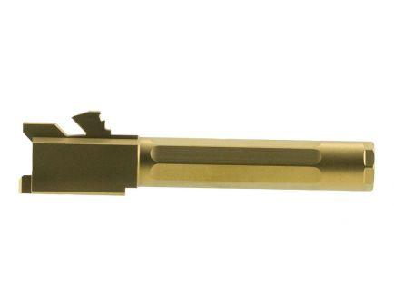 "Agency Arms Premier Line 9mm Glock 19 4.01"" Match Grade Drop-in Fluted Barrel, Titanium Nitride (Gold) - PLG19FTIN"