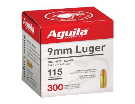 Aguila 9mm 115 gr Full Metal Jacket Ammunition, 300/box - 1E097700