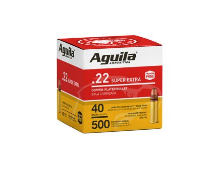 Aguila Super Extra 40 gr Copper Plated .22 LR Ammunition 500 Rounds
