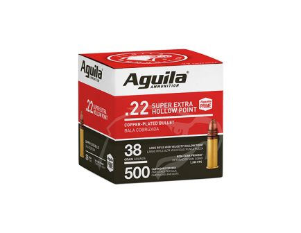 Aguila Super Extra Hollow Point 38 gr HP .22 LR Ammunition 500 Rounds