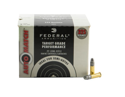 federal 22 long rifle 40 grain solid champion automatch ammo 325 rounds