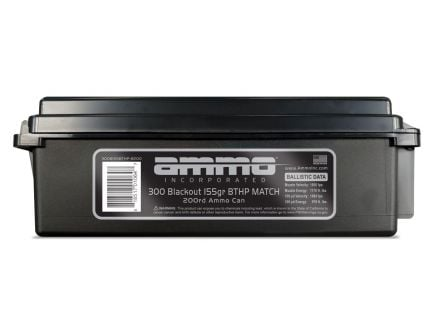 Ammo Inc 155 gr BTHP Match .300 Blackout Ammunition 200 Round Ammo Can For Sale