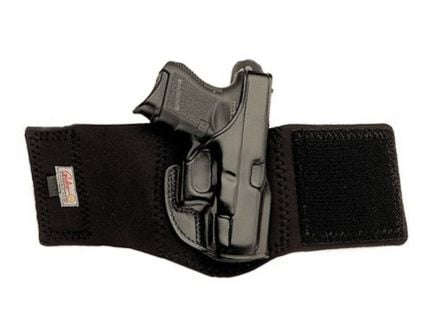 Galco Ankle Glove Right Hand for Glock 26, 27, 33 Black Leather AG286