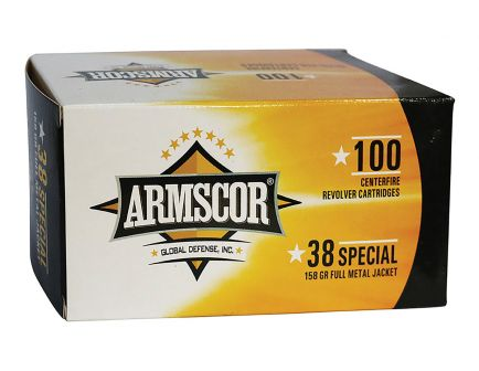 ArmsCor 158 gr FMJ .38 Special Ammunition, 100 Rounds