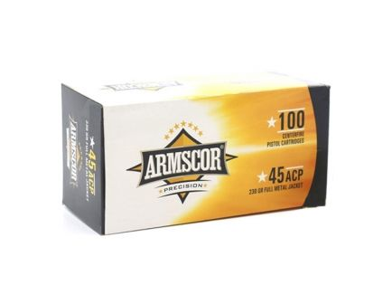 Armscor 45 ACP 230 gr FMJ Value Pack, 100 Rounds