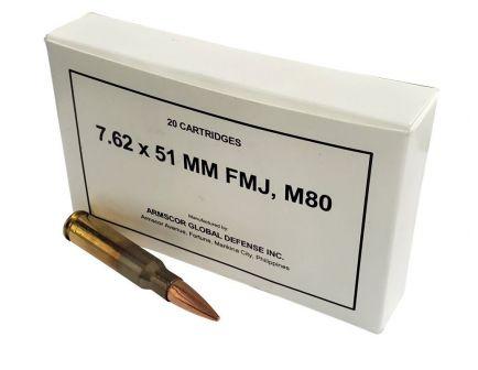 Armscor Ammo 7.62x51 M80 147gr FMJ 20rd
