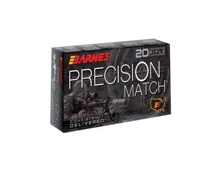 Barnes Precision Match 6.5 Grendel 120 gr OTM-BT 20 Rounds Ammunition