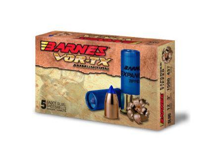 """Barnes VOR-TX 437 gr Expander Tipped 3"""" 12 Gauge Slug, 5 Rounds"""
