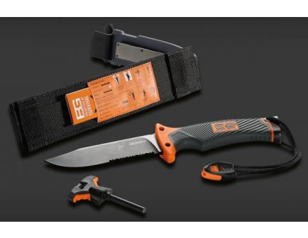 Gerber Bear Grylls Survival Series, Ultimate Fixed Blade Knife, Drop Point, Serrated 31-000751
