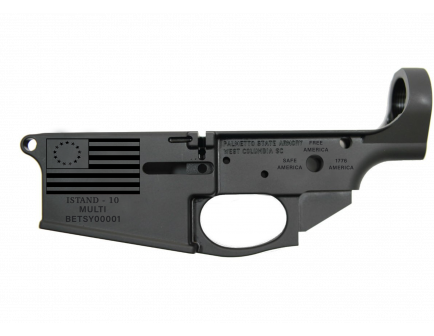 "PSA BETSY ROSS PA-10 ""I STAND-10"" AR-10 STRIPPED LOWER RECEIVER"