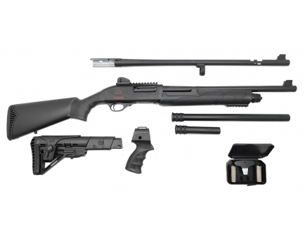 Black aces tactical pro series x pump-action shotgun with combo barrel for sale