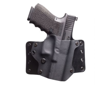 Black Point Tactical Leather Wing Right Hand Glock 43 Holster, Textured Black - 103336