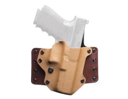 """BlackPoint Tactical Leather Wing 1.75"""" Belt Loop RH OWB Kydex  Holster For Glock 19/23, Coyote - 100203"""